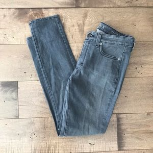 Spanx The Slim -X Skinny Jeans Gray 26 / 2 Grey